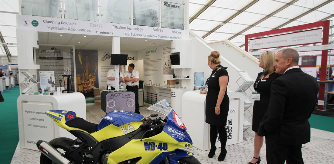 Exhibition Stand Design Case Studies : Two story exhibition stand for stauff uk the image group