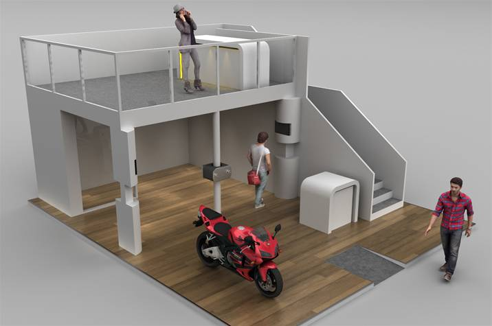 Exhibition Stand Fabrication : Two story exhibition stand for stauff uk the image group