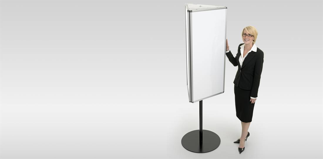 Three Sided Mobile Whiteboards Image 1
