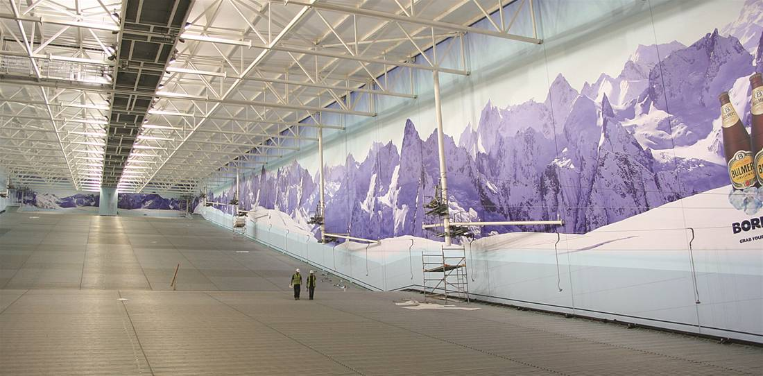 Exhibition Stand Outdoor : Indoor snow centre graphics the image group manchester
