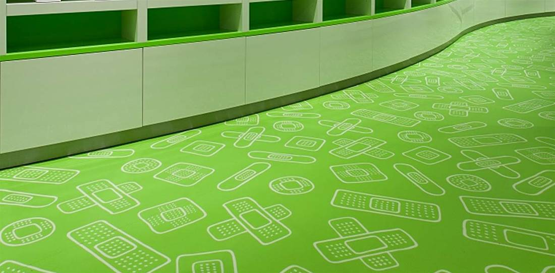Commercial Grade Printed Flooring Image 15
