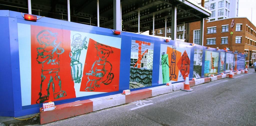 Printed Site Hoarding Panels Amp Advertising Hoarding Panels