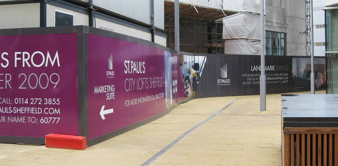 Printed Construction Site Hoardings Image 17