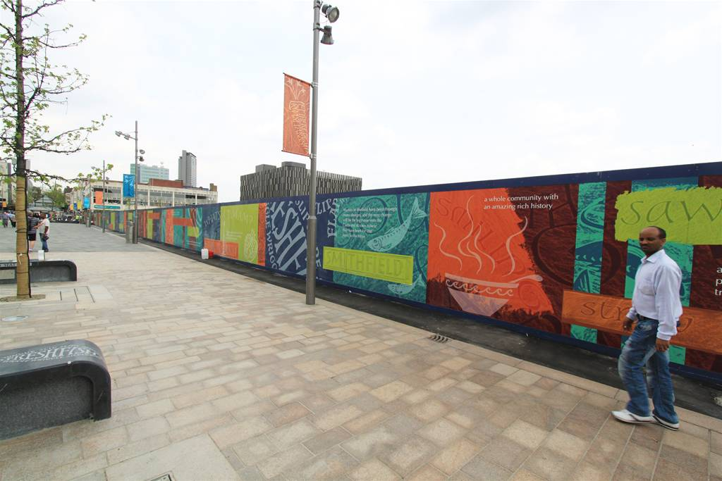 Exhibition Stand Builders Sheffield : Getting the most out of printed site hoardings image