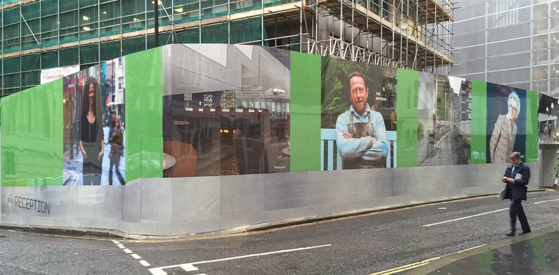 Printed Construction Site Hoardings Image 2