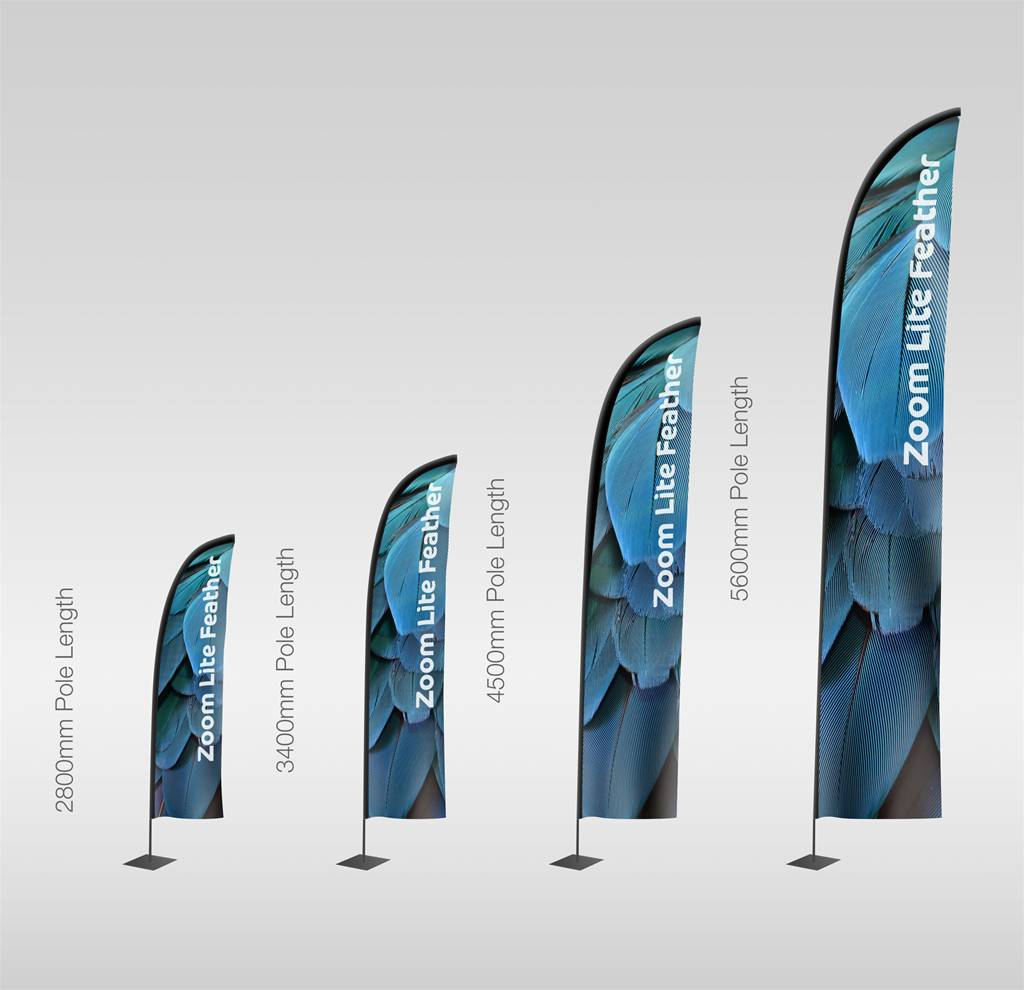 Zoom Lite Feather Flags The Image Group Manchester