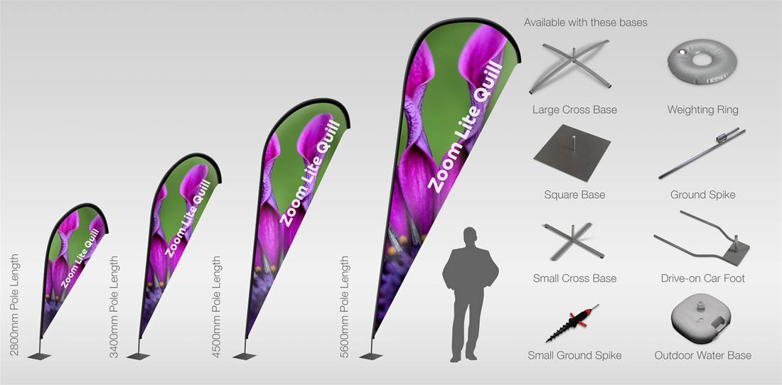 Zoom Lite Quill Flags Image 1